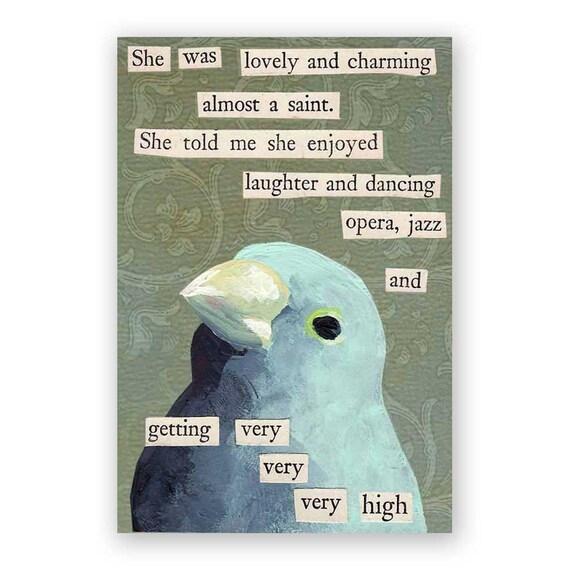 Saint Magnet - Bird - Humor - Jazz - Opera - Weed - Mincing Mockingbird - Gift - Stocking Stuffer