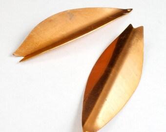 65mm Copper Folded Leaf ( 2 Pcs) #2817