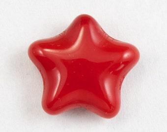 12mm Opaque Cherry Star Bead (6 Pcs) #KHF013