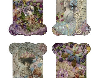 Digital download Crazy Quilt Ribbon keepers