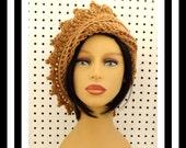 Toasted Almond Crochet Hat Womens Hat, Crochet Beanie Hat, Toasted Almond Hat, African Hat, Crochet Winter Hat, LAUREN Beanie Hat for Women