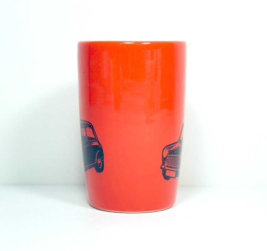 18oz tumbler with a creepy cooper on clementine, made to order / pick your colour