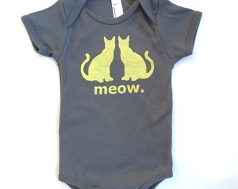 Cats Animal Friends Baby One-Piece Bodysuit - Gray