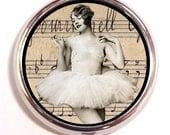 Ballerina Dancer Pill Box Case Pillbox Flapper
