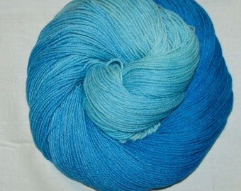 Handdyed Merino and Silk Sock Yarn LARIMAR