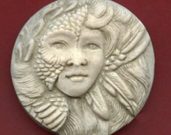 Polymer  Clay Faux Marble Art Nouveau Goddess Cab  NANC 2