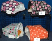Guinea Pig Snuggle Huts 10x10, 12x13 or XXL 14x15 with or without waterproof pads, nesting, bedding, cavy, fleece