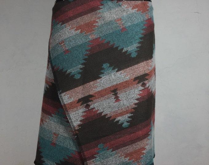 Womens clothing, wrap skirt, Snap Around Skirt, erin macleod, pastel skirt, cozy skirt, FREE SHIPPING