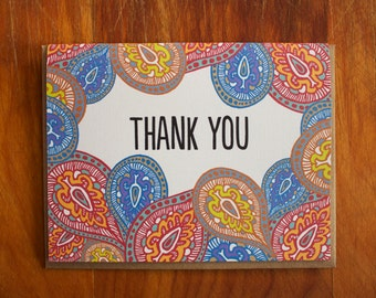 Thank You Card-Paisley