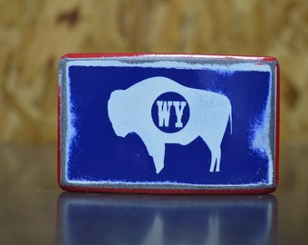 Wyoming State Flag Buckle by Fosterweld