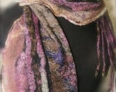 Nuno Felted  Large Scarf/Wrap a SugarPlum Original by J. Gauger