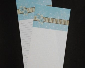 All Natural, stationery set, letter writing set, hand written letters, 30 pieces, tall and skinny personal correspondence