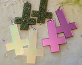 Special Effects Acrylic Inverted Cross Earrings