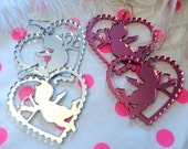 Cupids and Hearts Acrylic Earrings