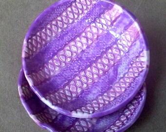 SALE TWO Ceramic Prep Bowls