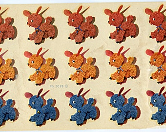 Vintage SHEEP LAMBS Decal (12) on a Sheet Children Kiddie MORE AVAlLABLE 5028