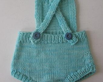 Wool Romper/ Playsuit- Blue