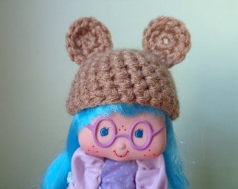 WARM BROWN bear ears for strawberry shortcake