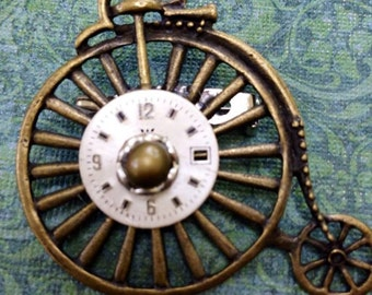 free shipping Victorian Steampunk Bicycle brooch jewelry by mary vogel lozinak  SRAJD
