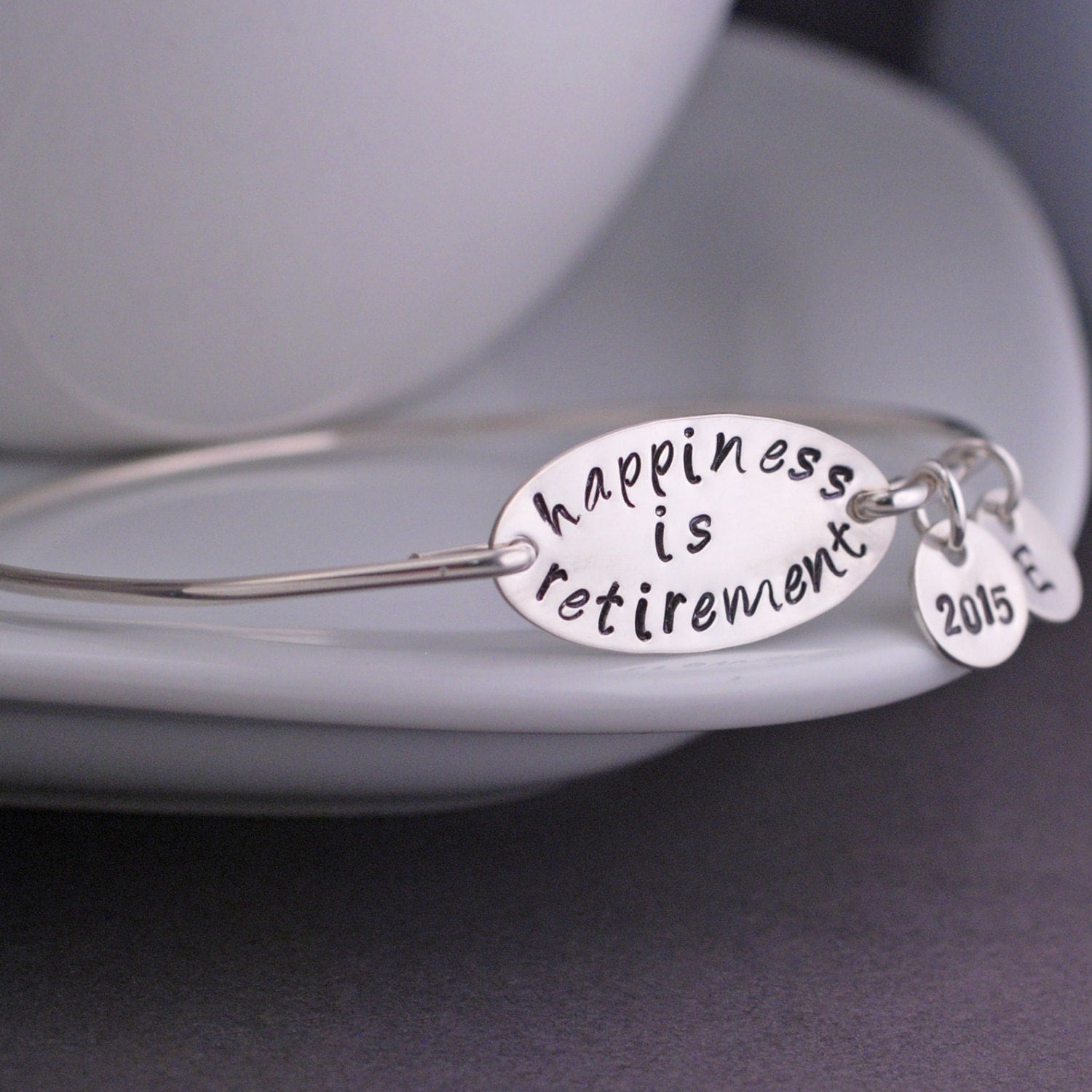 retirement gift happiness is retirement bracelet by