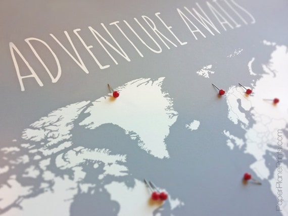 World Travel Map Pin Board Adventure Awaits DIY Kit with – Map With Pins For World Travel