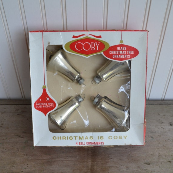 Coby Glass Christmas Tree Ornaments : Coby glass christmas ornaments in original box silver