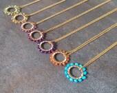 Gemstone pendant necklace birthstone necklace