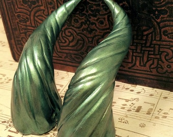 Forest Green Dragon Costume Horns - Made to Order