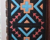 Southwestern Quilted Table Runner 12 x 48 Hand Painted