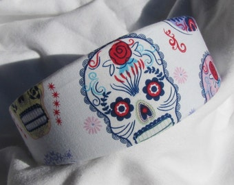 Sugar Skull Headband Hairband Day Of The Dead