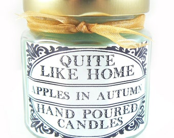 Apples in Autumn scented 4 oz. jar candle