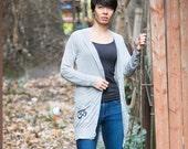 SALE! Grey Om Cardigan cover-up - Yoga clothing - yoga shirt - yoga clothes  - feel good clothes