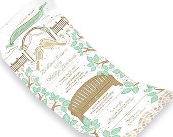 25 Park Birds Seed Paper Seal And Send Wedding Invitations