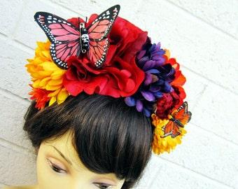 Dia De Los Muertos Headband, Day of the Dead, Frida Kahlo