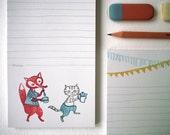 Fox Tea - notepad - 9,8x21cm - 100% ECO