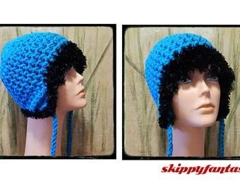 Skippy's Fantastic Cozy Blue Earflap Winter Hat