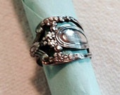 Gorgeous Spoon Ring - Intricate Design - Sterling Silver