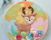Embroidered Art Hoop - Ms. Deer