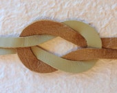 Infinity Knot Bracelet Taupe and Tan