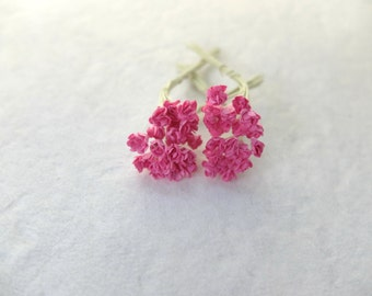 40 5mm pink paper flowers - tiny pink flowers