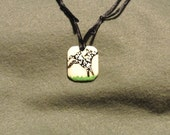 Bone Frolicking Nubian Kid pendant-handpainted