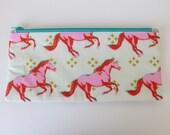 Horse Zipper Pencil Pouch