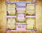 Ostara Digital Book of Shadows Pages - Set of 5 - Witch's Grimoire, Kitchen Witch Recipes, Eostre, Spring Equinox, Wicca, Pagan