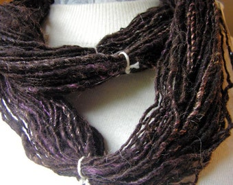 y281 Hand Processed and Spun Black Border Cross and  Dyed Bamboo YarnFree Shipping in US
