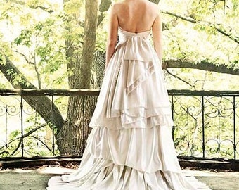Larkspur Eco Wedding Gown- Detachable Underskirt!