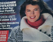 Sweater Knitting Patterns 101 Sweaters & Craft Ideas Woman's Day February 1988 Vintage Paper Original NOT a PDF