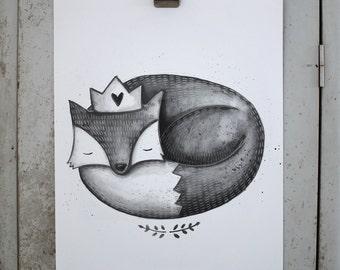 The Grey Fox print