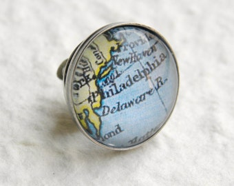 Philadelphia Map Tie Pin Tie Tack Lapel Pin - YOU pick from 25 maps