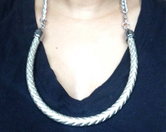 Chain with upcycled drapery cording