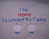 Custom Personalized Twins Nana Grandma Mom Mommy Aunt Sweatshirt Your Choice of Color Christmas Birthday Gift
